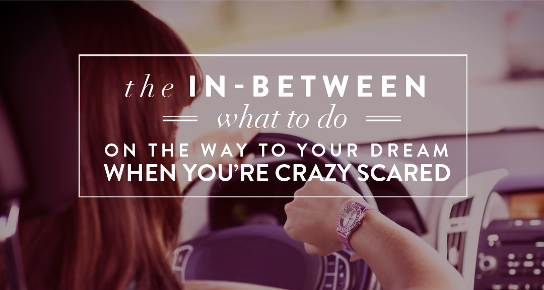 THE IN-BETWEEN: What to Do on the Way to Your Dream When You're Crazy Scared